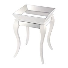 Side Table with Bent Glass