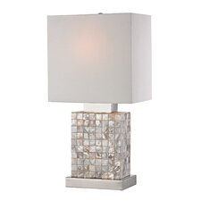 "Mother Of Pearl Mini 17"" H Table Lamp with Rectangular Shade"