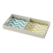 <strong>Sterling Industries</strong> Chevron Print Tray
