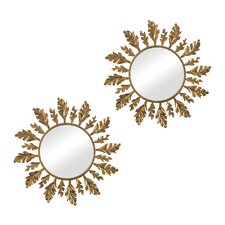 Leaf Framed Mirror (Set of 2)