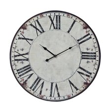 "Oversized 23.6"" Roman Numeral Printed Wall Clock"