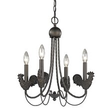 Rooster 4 Light Mini Chandelier