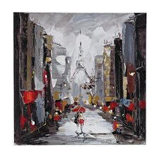 Paris Scene Oil Painting Print on Canvas