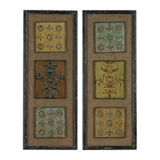 Aughton Spanish Tile 2 Piece Framed Graphic Art Set