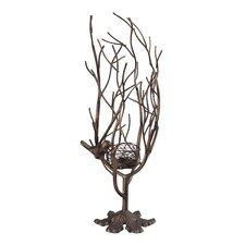 Birds Nest Metal Candle Holder