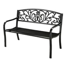 <strong>Sterling Industries</strong> Cast Iron and Steel Garden Bench