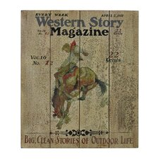 <strong>Sterling Industries</strong> Western Story Magazine Wall Art