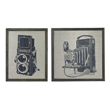 <strong>Sterling Industries</strong> 2 Piece Antique Camera Wall Art Set