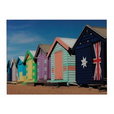 Beach Hut Graphic Art on Canvas