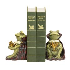 <strong>Sterling Industries</strong> Frog Prince Book Ends (Set of 2)