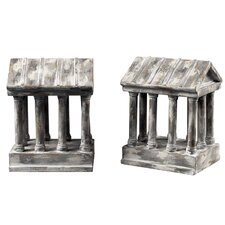 Aged Colum Book End (Set of 2)