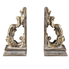 Florintine Scroll Book Ends (Set of 2)