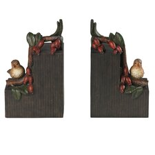 <strong>Sterling Industries</strong> Bird on Berry Branch Book Ends (Set of 2)