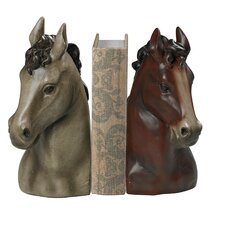 Horse Head Book End (Set of 2)
