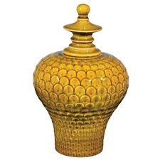 Large Lidded Decorative Jar