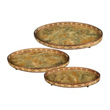 <strong>Sterling Industries</strong> Appaloosa 3 Piece Oval Serving Tray Set