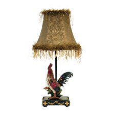 """Petite Rooster 19"""" H Table Lamp with Bell Shade"""