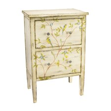 Bluebird and Branch Design 2 Drawer Chest