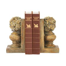 Floral Urn Bookends (Set of 2)