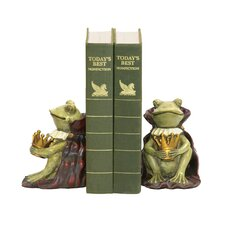 Frog Prince Bookends (Set of 2)