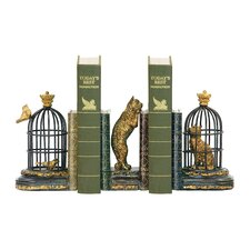 Three Piece Trading Places Bookend Set