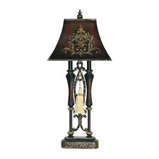 2 Light Double Tassel Table Lamp