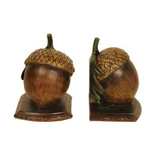 Muir Wood Acorn Book Ends (Set of 2)