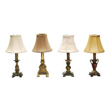 "Library 12"" H Table Lamp with Bell Shade (Set of 4)"