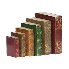 5 Piece Tooled Book Figurine