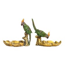 2 Piece Tropical Dish Figurine Set