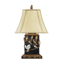 "Birds on Branch 18.5"" H Table Lamp with Bell Shade"