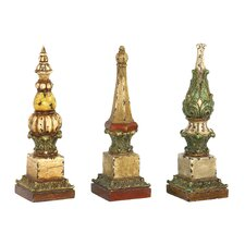 3 Piece Sphere Tip Finial Figurine