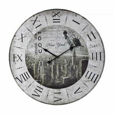 "Oversized 24"" New York Wall Clock"
