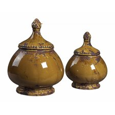 <strong>Sterling Industries</strong> 2 Piece Decorative Canister Set
