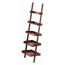 Vintage Library Ladder Leaning Shelf