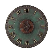 Metal Roman Numeral Wall Clock