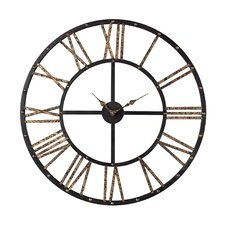 "Oversized 28"" Roman Numeral Open Back Wall Clock"