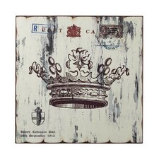 Crown Print Graphic Art on Canvas