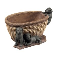 Puppies in Basket Keep Sake Dish