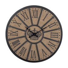 "Oversized 26"" Crown Faced Wall Clock"