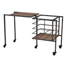 <strong>Sterling Industries</strong> Iron and Wood Entryway Storage Bench