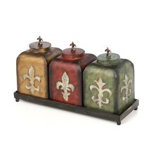<strong>Sterling Industries</strong> Fleur De Lis Boxes (Set of 3)