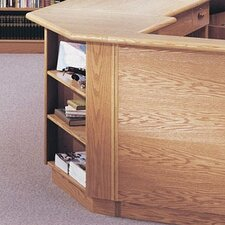 "Vision Series 90 Degree 38"" Corner Bookcase"