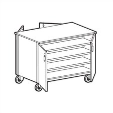 4000 Series Double Sided Tote Tray Mobile Cabinet