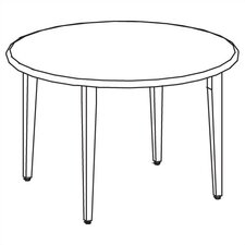 Library 3000 Round Study Table