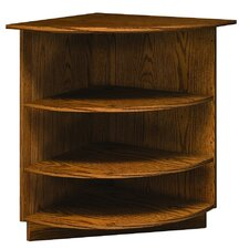 "Library 3000 Radiused 38"" Corner Bookcase"