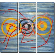 3 Piece 'Blood Rings' Canvas Art Set