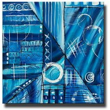 <strong>White Walls</strong> 'Blue Blunder' Contemporary Canvas Art in Blue