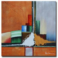 <strong>White Walls</strong> Abstract Anxiety Contemporary Canvas Art