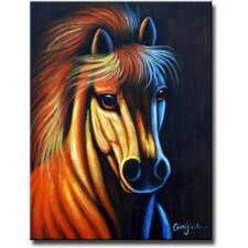 Mind That Horse Original Painting on Canvas